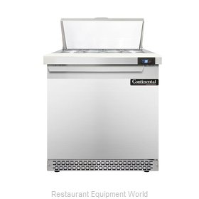 Continental Refrigerator DL32-8-FB Refrigerated Counter, Sandwich / Salad Top