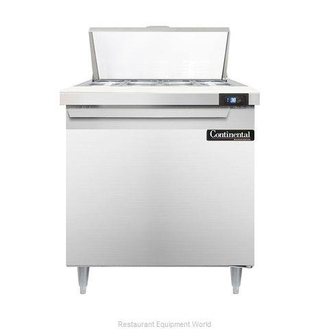 Continental Refrigerator DL32-8 Refrigerated Counter, Sandwich / Salad Top