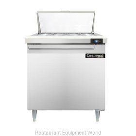 Continental Refrigerator DL32-8 Refrigerated Counter, Sandwich / Salad Top
