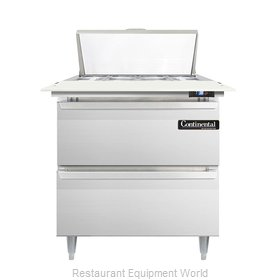 Continental Refrigerator DL32-8C-D Refrigerated Counter, Sandwich / Salad Top