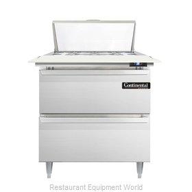 Continental Refrigerator DL32-8C-D Refrigerated Counter, Sandwich / Salad Top