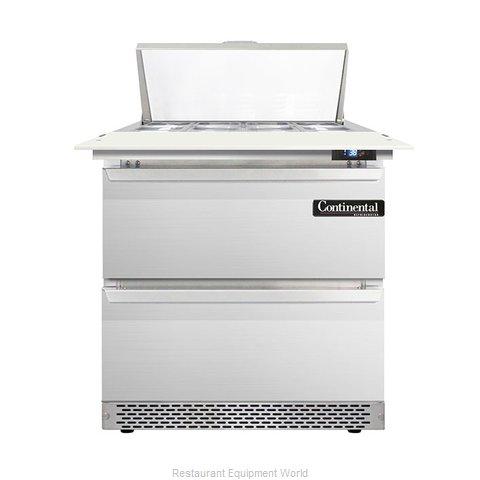 Continental Refrigerator DL32-8C-FB-D Refrigerated Counter, Sandwich / Salad Top