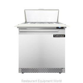 Continental Refrigerator DL32-8C-FB Refrigerated Counter, Sandwich / Salad Top