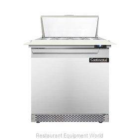 Continental Refrigerator DL32-8C-FB Refrigerated Counter, Sandwich / Salad Top