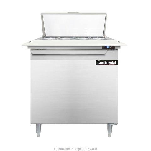 Continental Refrigerator DL32-8C Refrigerated Counter, Sandwich / Salad Top