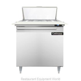 Continental Refrigerator DL32-8C Refrigerated Counter, Sandwich / Salad Top