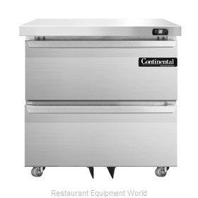 Continental Refrigerator DL32-SS-U-D Refrigerator, Undercounter, Reach-In
