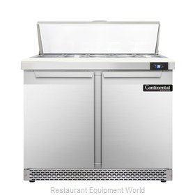 Continental Refrigerator DL36-10-FB Refrigerated Counter, Sandwich / Salad Top