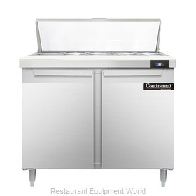 Continental Refrigerator DL36-10 Refrigerated Counter, Sandwich / Salad Top