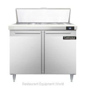 Continental Refrigerator DL36-10 Refrigerated Counter, Sandwich / Salad Top
