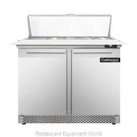 Continental Refrigerator DL36-10C-FB Refrigerated Counter, Sandwich / Salad Top