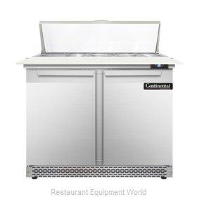 Continental Refrigerator DL36-10C-FB Refrigerated Counter, Sandwich / Salad Top