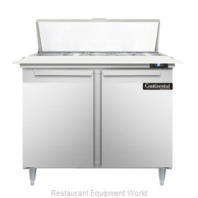Continental Refrigerator DL36-10C Refrigerated Counter, Sandwich / Salad Top