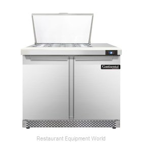 Continental Refrigerator DL36-12M-FB Refrigerated Counter, Mega Top Sandwich / S