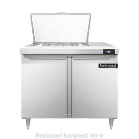 Continental Refrigerator DL36-12M Refrigerated Counter, Mega Top Sandwich / Sala