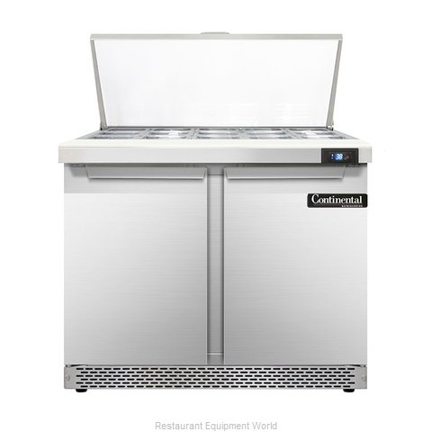 Continental Refrigerator DL36-15M-FB Refrigerated Counter, Mega Top Sandwich / S