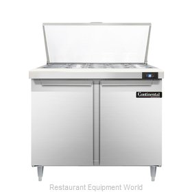 Continental Refrigerator DL36-15M Refrigerated Counter, Mega Top Sandwich / Sala