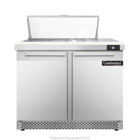 Continental Refrigerator DL36-8-FB Refrigerated Counter, Sandwich / Salad Top