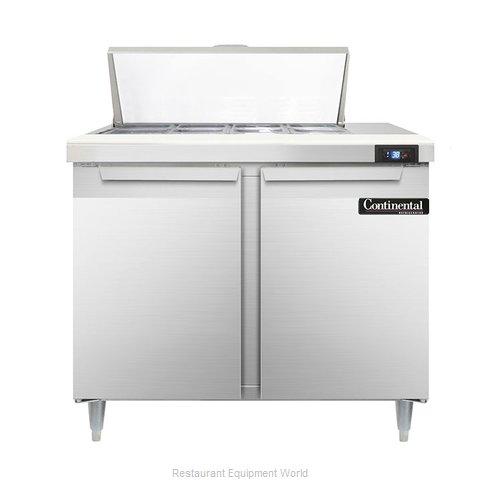 Continental Refrigerator DL36-8 Refrigerated Counter, Sandwich / Salad Top