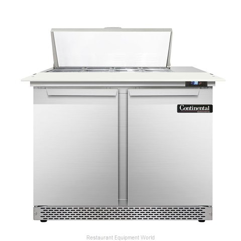 Continental Refrigerator DL36-8C-FB Refrigerated Counter, Sandwich / Salad Top