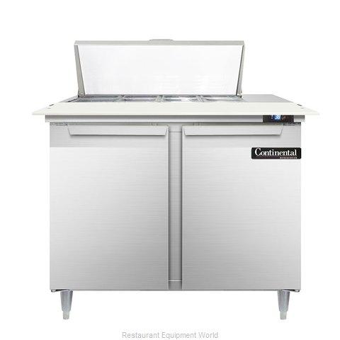 Continental Refrigerator DL36-8C Refrigerated Counter, Sandwich / Salad Top