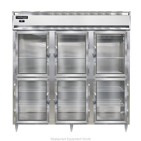 Continental Refrigerator DL3R-SA-GD-HD Refrigerator, Reach-In