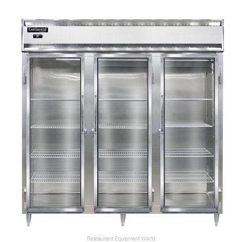 Continental Refrigerator DL3R-SS-GD Refrigerator, Reach-In