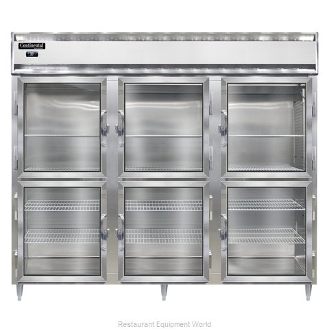 Continental Refrigerator DL3RE-SA-GD-HD Refrigerator, Reach-In