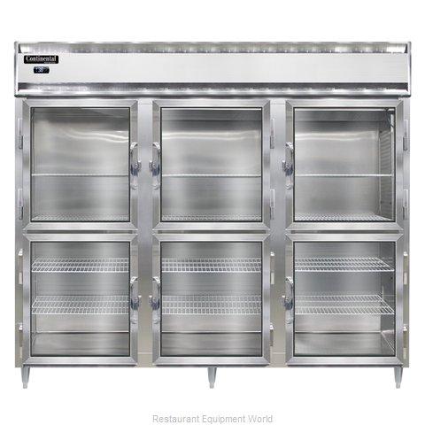 Continental Refrigerator DL3RE-SS-GD-HD Refrigerator, Reach-In