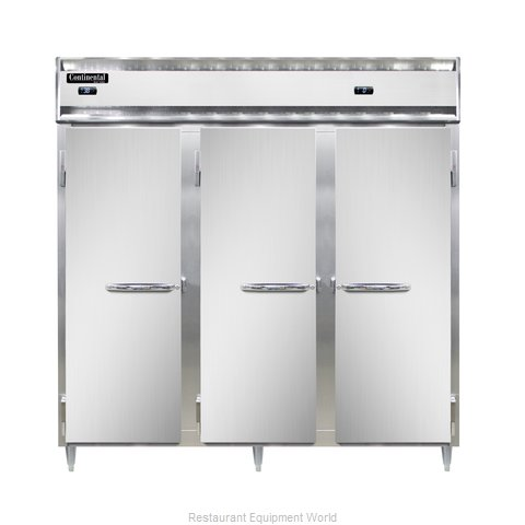 Continental Refrigerator DL3RFF-SS-PT Refrigerator Freezer, Pass-Thru