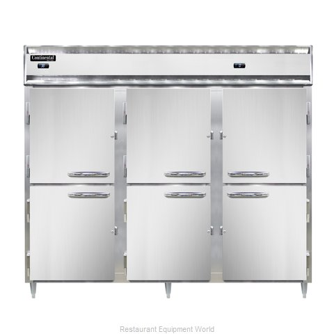 Continental Refrigerator DL3RFFE-SS-PT-HD Refrigerator Freezer, Pass-Thru