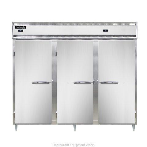 Continental Refrigerator DL3RFFE-SS-PT Refrigerator Freezer, Pass-Thru