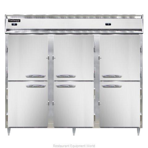 Continental Refrigerator DL3RRFE-SA-PT-HD Refrigerator Freezer, Pass-Thru