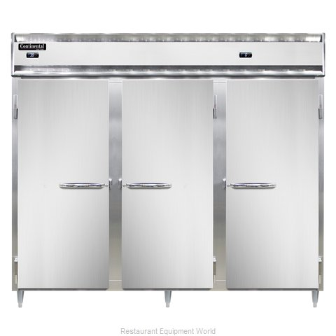 Continental Refrigerator DL3RRFE-SA Refrigerator Freezer, Reach-In