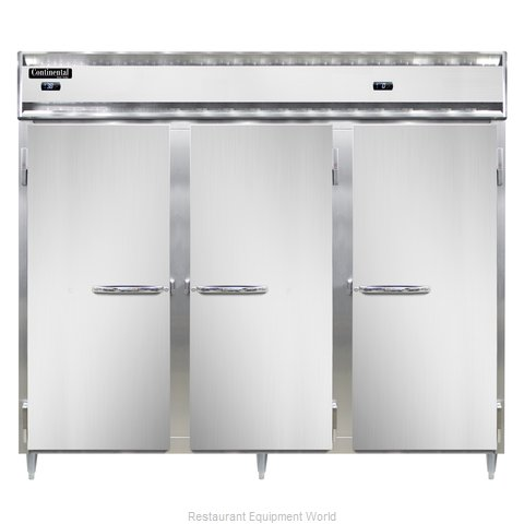 Continental Refrigerator DL3RRFE Refrigerator Freezer, Reach-In