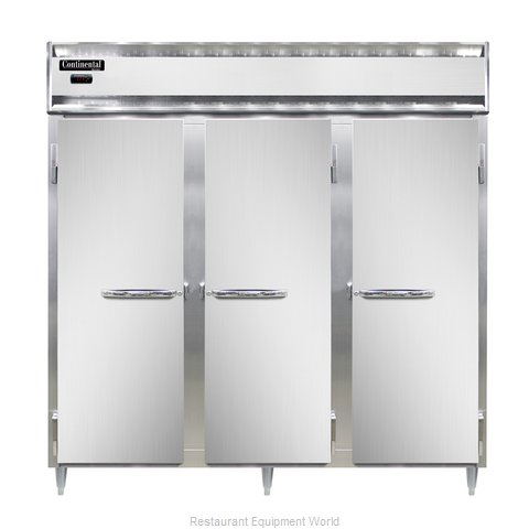 Continental Refrigerator DL3W-SS Heated Cabinet, Reach-In