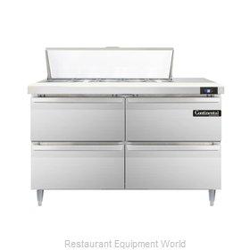 Continental Refrigerator DL48-10-D Refrigerated Counter, Sandwich / Salad Top