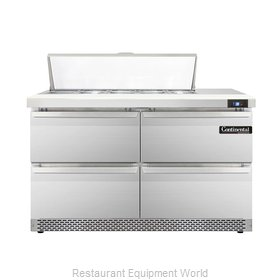 Continental Refrigerator DL48-10-FB-D Refrigerated Counter, Sandwich / Salad Top