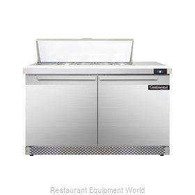 Continental Refrigerator DL48-10-FB Refrigerated Counter, Sandwich / Salad Top