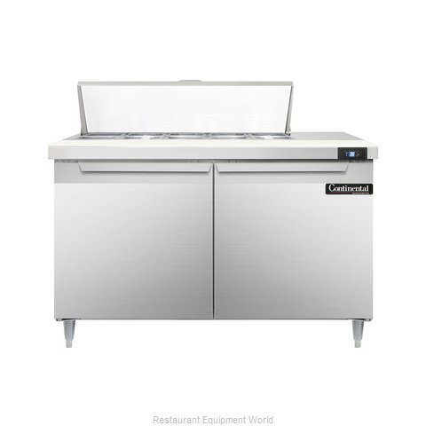 Continental Refrigerator DL48-10 Refrigerated Counter, Sandwich / Salad Top