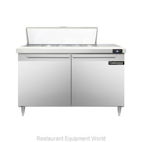 Continental Refrigerator DL48-10 Refrigerated Counter, Sandwich / Salad Top