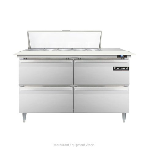 Continental Refrigerator DL48-10C-D Refrigerated Counter, Sandwich / Salad Top