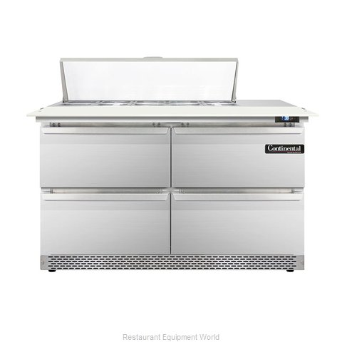 Continental Refrigerator DL48-10C-FB-D Refrigerated Counter, Sandwich / Salad To