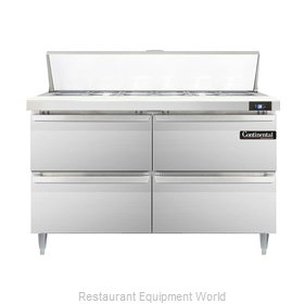 Continental Refrigerator DL48-12-D Refrigerated Counter, Sandwich / Salad Top