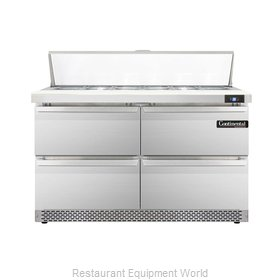 Continental Refrigerator DL48-12-FB-D Refrigerated Counter, Sandwich / Salad Top