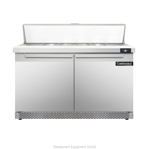 Continental Refrigerator DL48-12-FB Refrigerated Counter, Sandwich / Salad Top