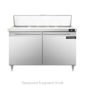 Continental Refrigerator DL48-12 Refrigerated Counter, Sandwich / Salad Top