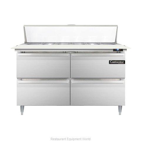 Continental Refrigerator DL48-12C-D Refrigerated Counter, Sandwich / Salad Top
