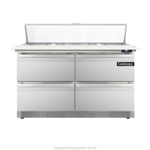 Continental Refrigerator DL48-12C-FB-D Refrigerated Counter, Sandwich / Salad To