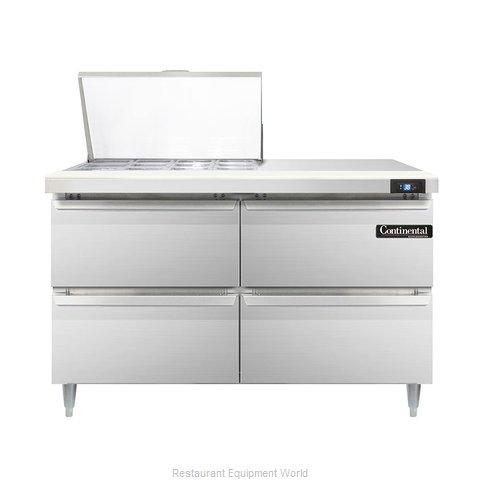 Continental Refrigerator DL48-12M-D Refrigerated Counter, Mega Top Sandwich / Sa